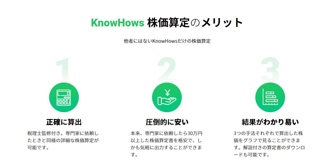 KnowHowsの株価算定ツール